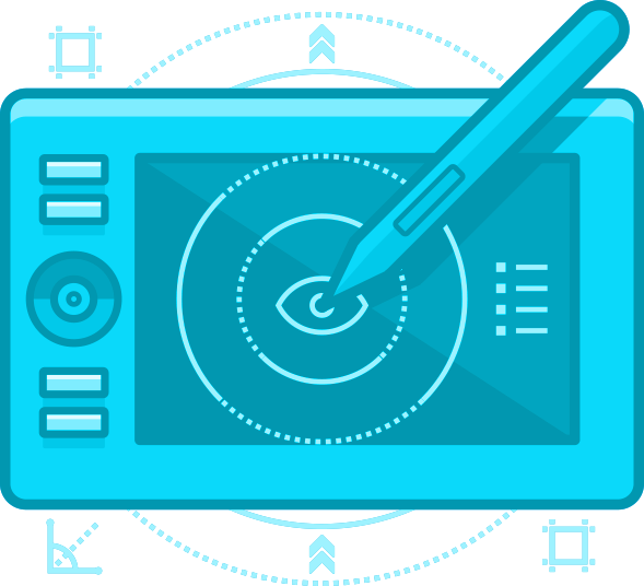 digital drawing tablet icon
