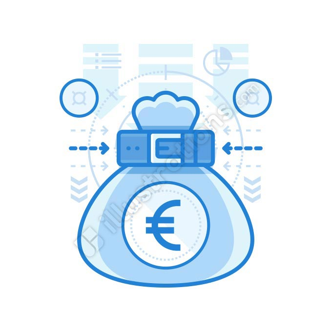 euro bag illustration