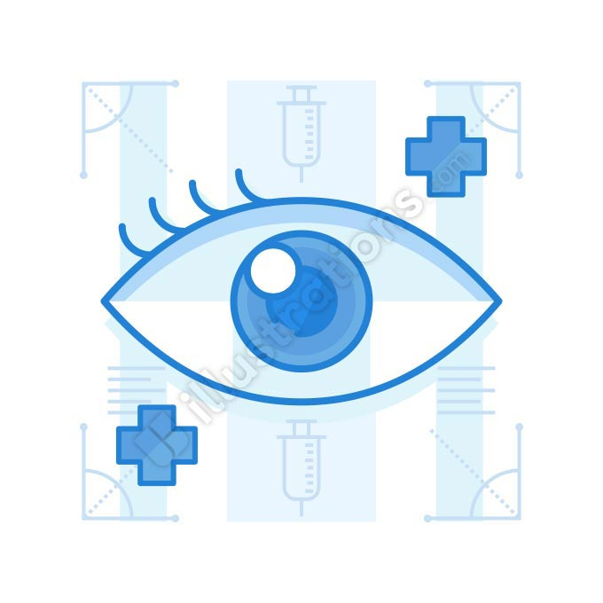 eye problem illustration