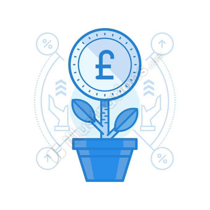 grow british pound illustration