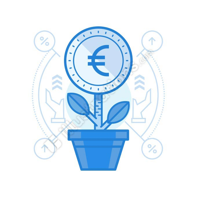 grow euro illustration