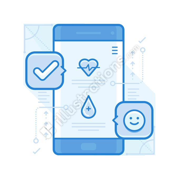 health app illustration