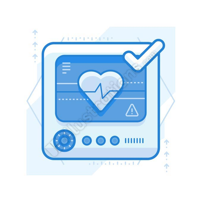 heart monitor illustration