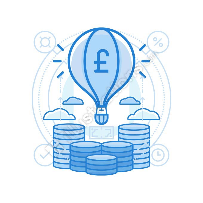 launch british pound illustration
