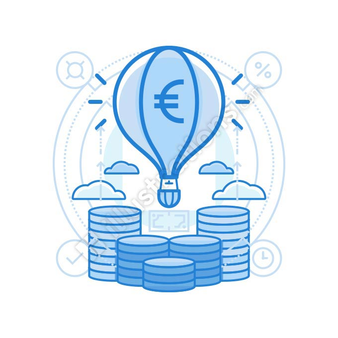 launch euro illustration