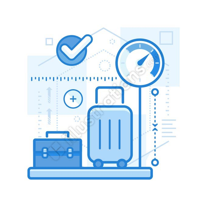 luggage measurement illustration