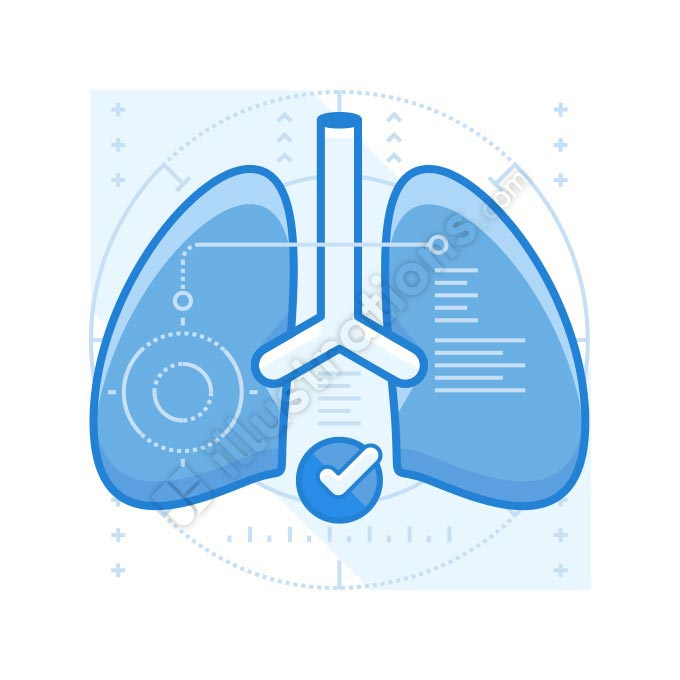 lung problems illustration