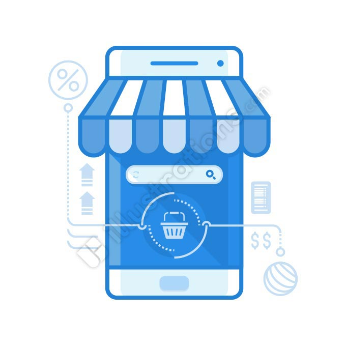 mobile shop illustration