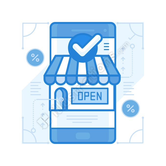 online mobile store illustration