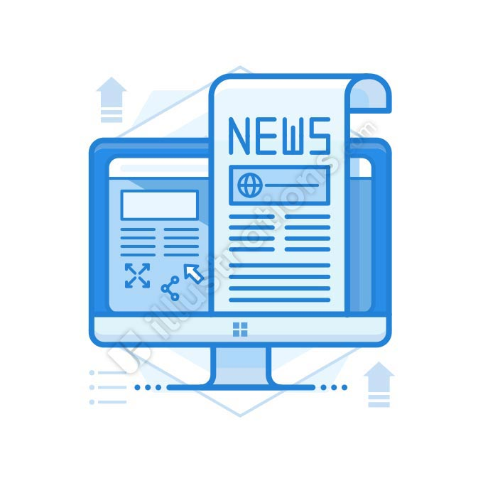 online news illustration