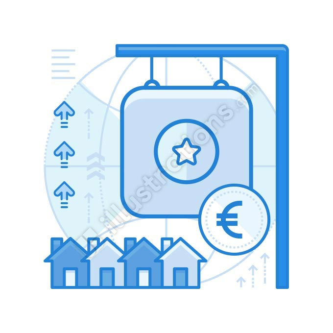 real estate euro illustration