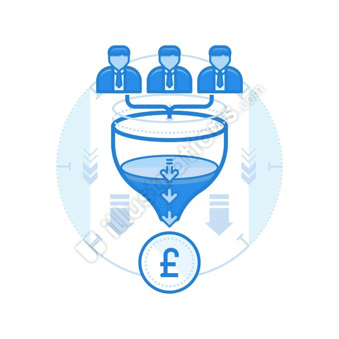 team funnel british pound illustration