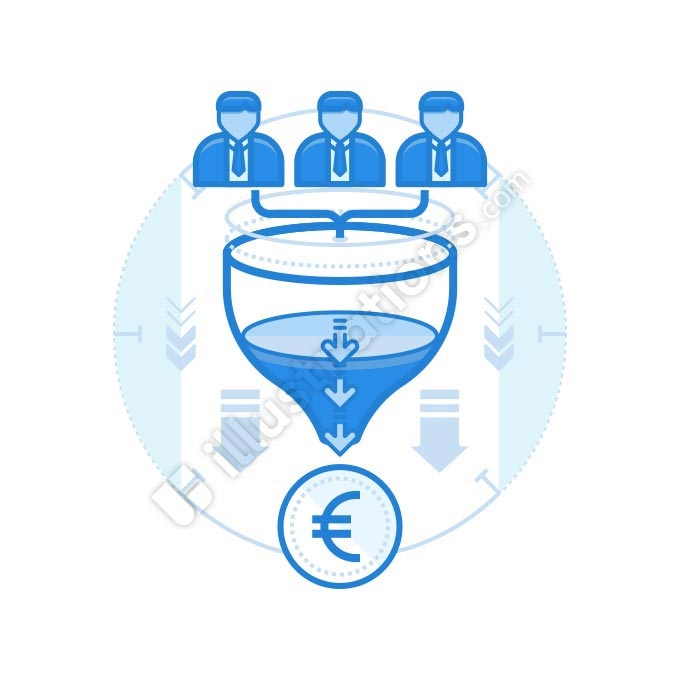 team funnel euro illustration
