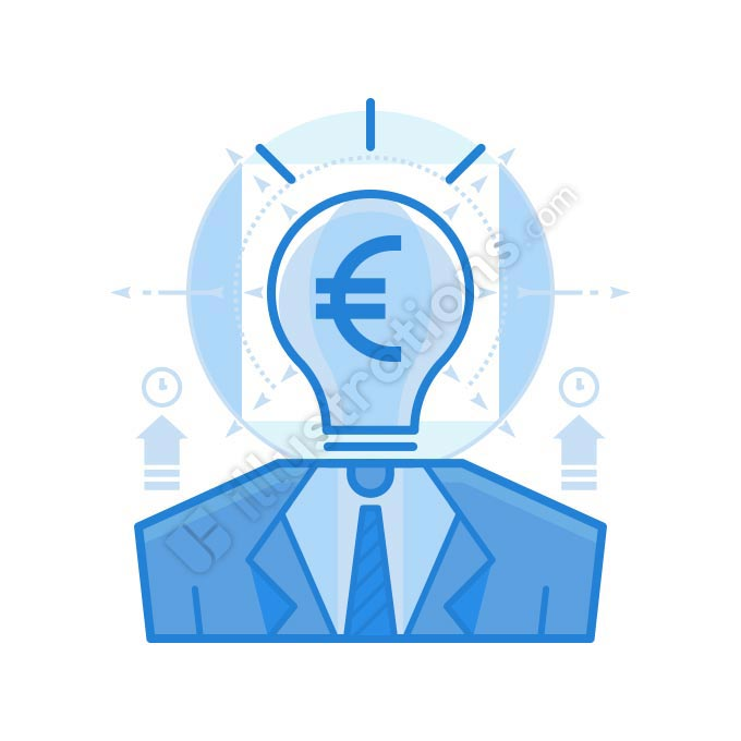 thought euro illustration