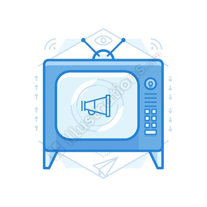 tv ad illustration
